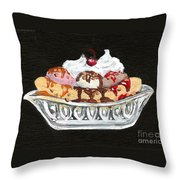 Banana Split Throw Pillow