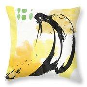 Bananas- Art By Linda Woods Throw Pillow