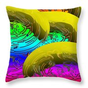Banana's In Ice Water Throw Pillow