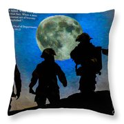 Band Of Brothers - Oil Throw Pillow