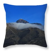 Band Of Cloud On Mount Cotacachi Throw Pillow