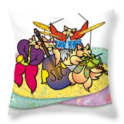 Band Of Foxes Throw Pillow
