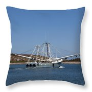 Band Of Gold Departing Cape Canaveral Throw Pillow