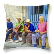 Band Of Locals Throw Pillow