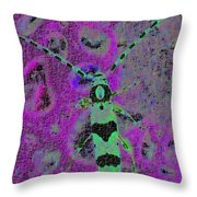 Banded Alder Borer Throw Pillow