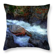 Banded Rock At Livermore Throw Pillow