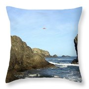 Bandon 28 Throw Pillow by Will Borden
