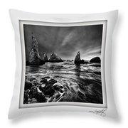 Bandon Beach 1 Throw Pillow
