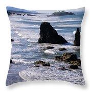 Bandon Beach 2 Throw Pillow