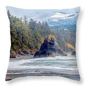 Bandon Oregon Throw Pillow