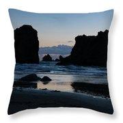 Bandon Oregon Sea Stacks Throw Pillow