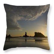 Bandon Sunset 4 Throw Pillow