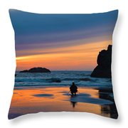 Bandon Sunset Photographer Throw Pillow