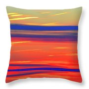 Bands Of Colour Five  Throw Pillow