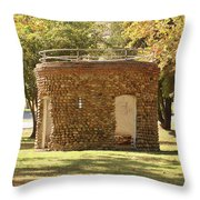 Bandstand Drinking Fountain Throw Pillow