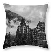 Banff Fairmont Springs Hotel Throw Pillow