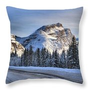 Banff Icefields Parkway Throw Pillow