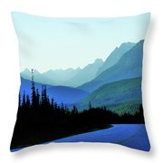 Banff Jasper Blue Throw Pillow