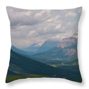 Banff National Park - View Through The Valley Throw Pillow