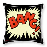 Bang Bang Baby Throw Pillow