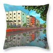 Bangkok Reflections Throw Pillow