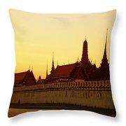 Bangkok Royal Palace Complex Throw Pillow