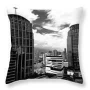 Bangkok Skies Throw Pillow