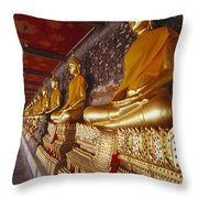 Bangkok, Wat Suthat Throw Pillow