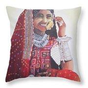 Banjaran With Traditional Attire Throw Pillow