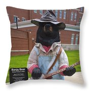 Banjo Bear Throw Pillow