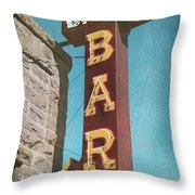 Bank Bar Throw Pillow