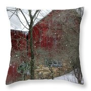 Bank Barn Throw Pillow