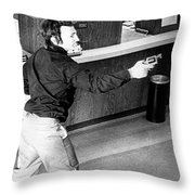 Bank Holdup, 1973 Throw Pillow