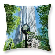 Bank Of America Corporate Center In Charlotte, Nc Throw Pillow