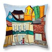 Bank Street West Throw Pillow