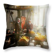 Banker - Worth Its Weight In Gold Throw Pillow