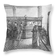 Banking, 19th Century Throw Pillow by Granger