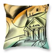 Banking Throw Pillow