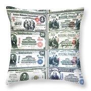 Banknotes Throw Pillow