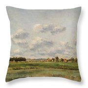 Banks Of The Loing Throw Pillow