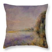 Banks Of The River 1876 Throw Pillow