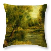 Banks Of The River Throw Pillow
