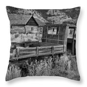 Bannack Extended Parking Black And White Throw Pillow