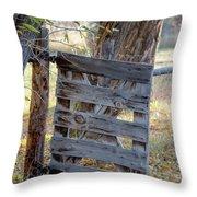 Bannack Gate At Sunrise Throw Pillow