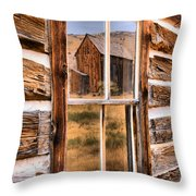 Bannack Reflection In The Past Throw Pillow