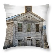 Bannack Schoolhouse And Masonic Temple Throw Pillow