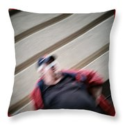 Banned Face Throw Pillow