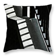 Bannister And Shadows Throw Pillow