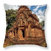 Banteay Srei Mandapa Sanctuary - Cambodia Throw Pillow