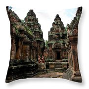 Banteay Srei Temple Throw Pillow